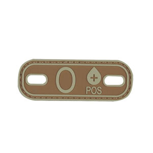 5ive Star Gear PVC Morale Patch Blood Type O POS Coyote