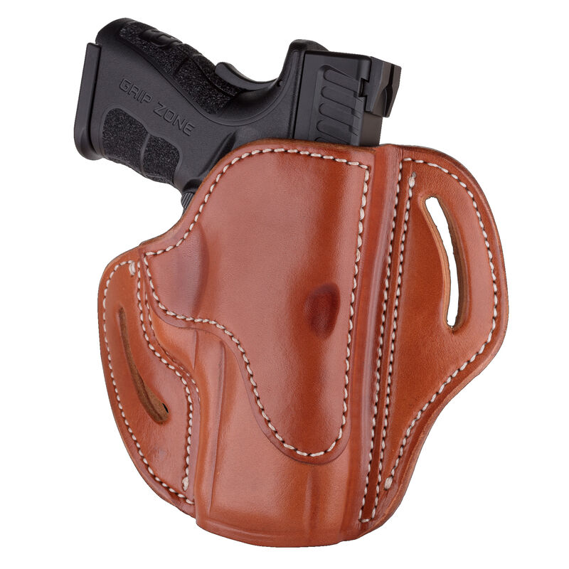 1791 Gunleather Open Top Multi-Fit 2 4s OWB Belt Holster for FN 509/SIG  P229/P228 Semi Auto Models Right Hand Draw Leather Classic Brown