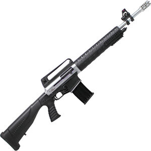 "Iver Johnson Stryker SN 12 Gauge AR Style Semi Auto Shotgun 20"" Barrel 3"" Chamber 5 Rounds Two Piece Pistol Grip Stock Nickel/Black Finish"
