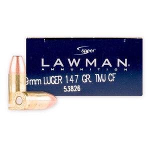 Speer Lawman 9mm Ammunition 147 Grain TMJ Clean Fire 985fps