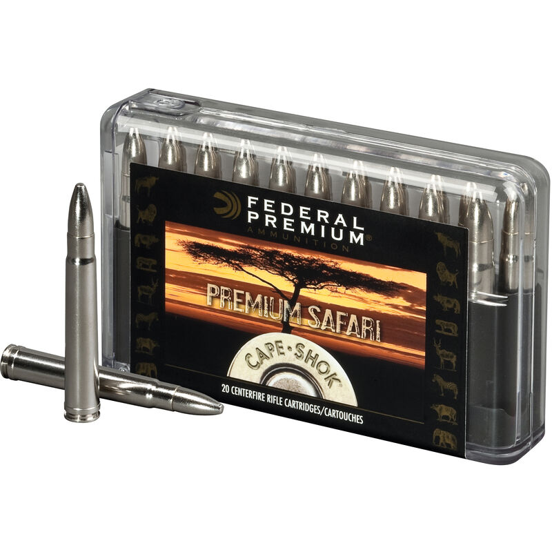 Federal .470 Nitro Express Ammunition 20 Rounds Bonded Cape-Shok 500 Grains