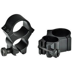 "Weaver 1"" Detachable See-Thru Scope Rings 3/8"" Dovetail Black 47327"