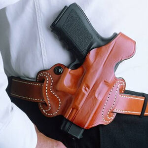 DeSantis Thumb Break Mini Slide GLOCK 43 Belt Holster Right Hand Leather Tan 085TA8BZ0