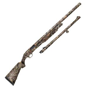 """Mossberg 500 Combo Field/Deer Pump Action Shotgun 12 Gauge 28"""" Vent Rib Barrel and 24"""" Fully Rifled Barrel 3"""" Chambers 5 Rounds Synthetic Stock Mossy Oak Break Up Country 52282"""