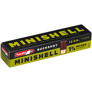 "Aguila MiniShells 12 Gauge Ammunition 20 Rounds 1-3/4"" Shell #4 and #1 Buckshot Combination 5/8oz 1200fps"