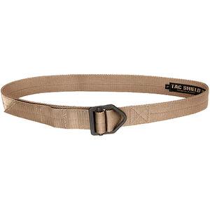 """TAC SHIELD Tactical Riggers Belt 1.75"""" Medium 34-38"""" Coyote"""