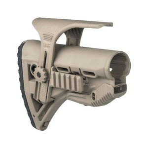 FAB Defense GL-Shock PCP AR-15 Shock Absorbing Buttstock with Picatinny Cheek Rest FDE