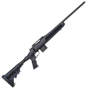 "Mossberg MVP Flex Bolt Action Rifle 5.56 NATO 18.5"" Medium Bull Barrel 10 Rounds FLEX 6 Position Collapsible Stock Matte Blued Finish 27744"