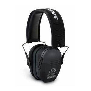 Walker's Game Ear Razor Slim Series Passive Adult Folding Earmuffs Matte Black Finish