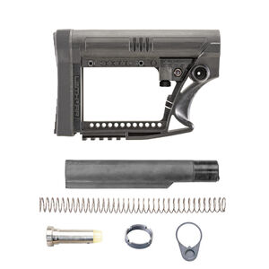 Luth-AR AR-15 MBA-4 Stock Assembly With Mil-Spec .223 Buffer Kit Black MBA-4K-M