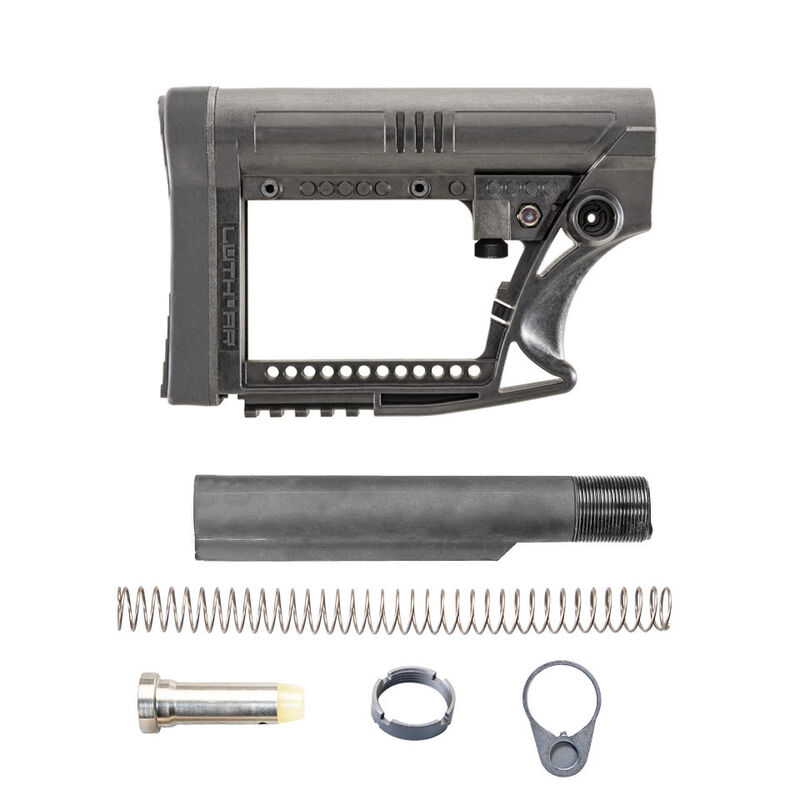 Luth-AR AR-15 MBA-4 Stock Assembly With Mil-Spec .223 Buffer Kit Black MBA-4K-M