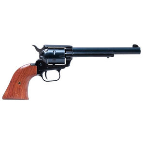 "Heritage Rough Rider Revolver Single Action Army .22 LR And .22 Magnum 6.5"" Barrel 6 Rounds Alloy Frame Wood Grips Fixed Sights with Nylon Holster 22MB6HOL"