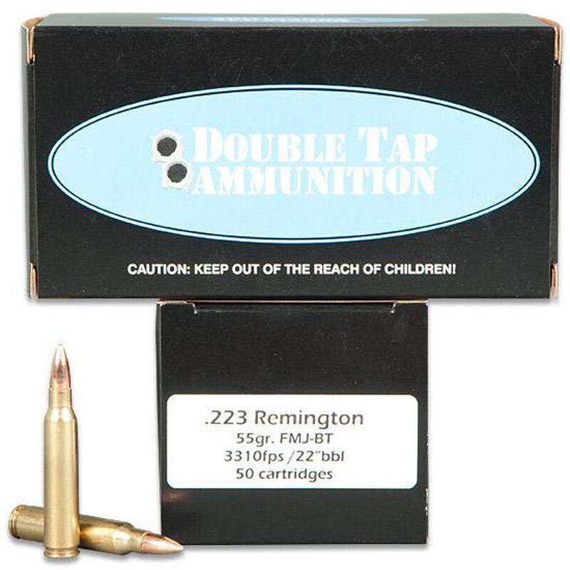 DoubleTap .223 Remington Ammunition 50 Rounds Match FMJBT 55 Grains 22355F