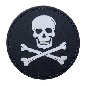 Tru-Spec PVC Jolly Roger Morale Patch 2 Inches Black and Gray 6788000