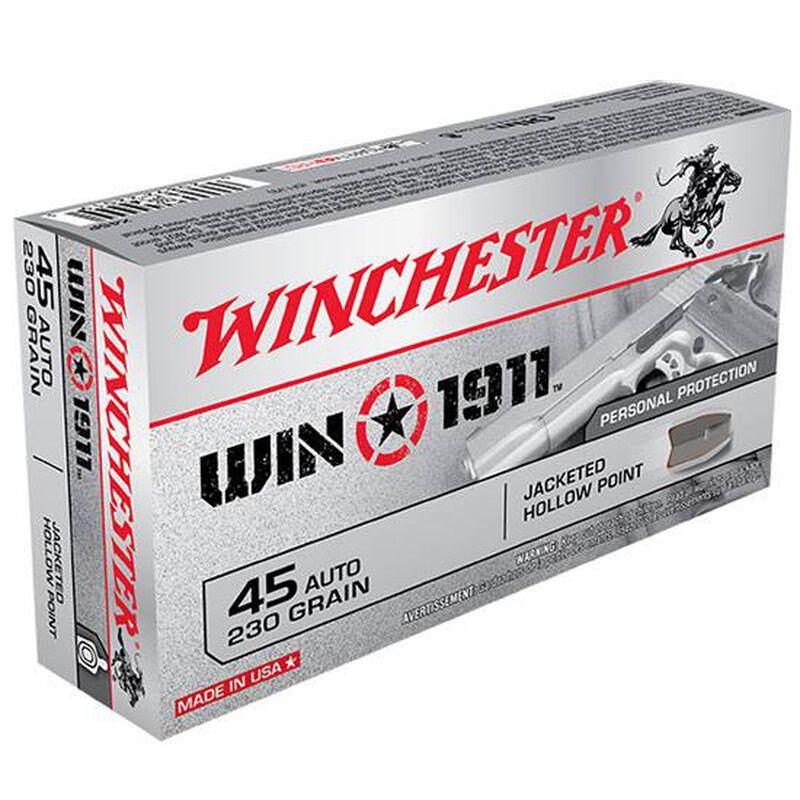 Winchester Win1911 .45 ACP 230 Grain NP JHP 50 Round Box