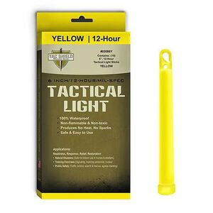 """Tac Shield Tactical Light Sticks 6"""" Length Package of 10 Yellow 03086Y"""