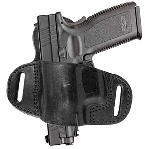 Tagua Extra Protection Springfield XD9/40 Belt Slide Holster Right Hand Leather Black