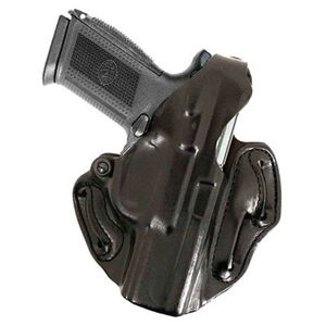 DeSantis 001 FNX-40, FNX-9 Thumb Break Scabbard Belt Holster Right Hand Leather Black