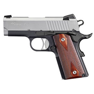 "SIG Sauer 1911 Ultra-Compact Semi Auto Pistol 9mm Luger 3.3"" Barrel 8 Rounds SIGLITE Night Sights Rosewood Grips Aluminum Frame Duo Tone Finish"