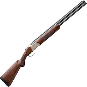"Browning Citori Feather Lightning 12 Gauge O/U Break Action Shotgun 26"" Vent Rib Barrels 3"" Chamber 2 Rounds Walnut Stock Silver Receiver with Blued Barrel Finish"