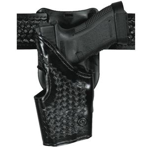 Safariland Model 295 Retention Duty Holster GLOCK 17, 19, 22, and 23, Mid-Ride, Left Hand, Basket Weave Black 295-83-82