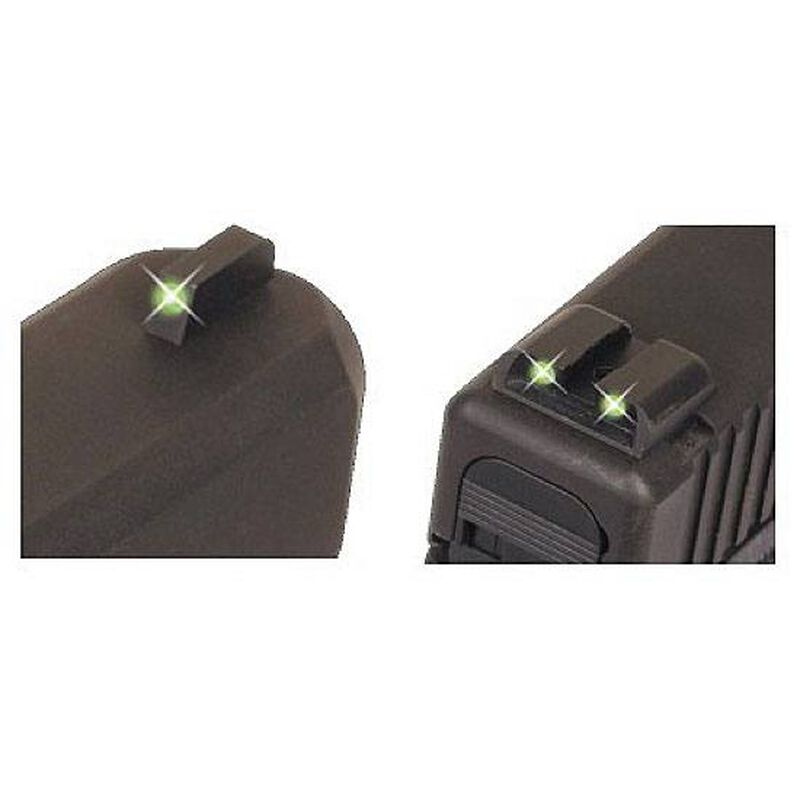 TRUGLO SIG Sauer Tritium Sight Set Green #8 Front and Rear TG231S1
