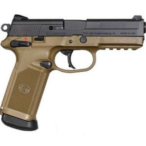 "FN FNX Semi Auto Handgun.45 ACP 4"" Barrel Polymer Frame Dark Earth Black Slide 15 Rounds Fixed Sights 66964"