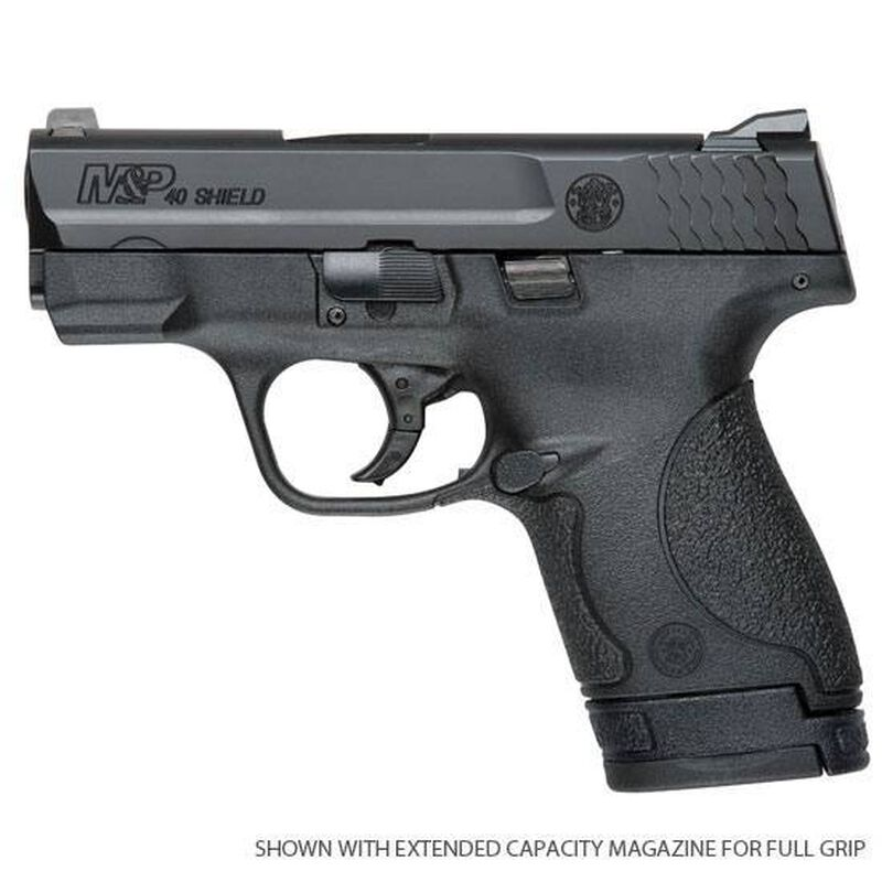 "Smith & Wesson M&P Shield Semi-Auto .40 S&W 3.1"" Barrel 6 Rounds No External Safety Polymer Frame Black 10034"