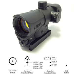 Lucid Optics HD7 Gen III Red Dot Sight 2 MOA Four Reticles 34mm Matte Black L-HD7