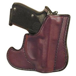 "Don Hume Front Pocket 2"" S&W J-Frame/Taurus 85 Ambidextrous Leather Brown J100100R"