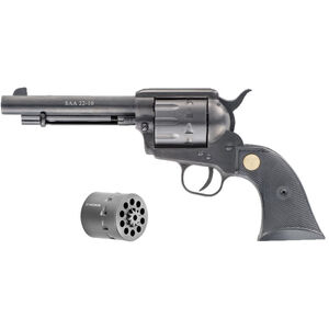 """Chiappa Firearms 1873 SAA-22 Dual Cylinder 22 LR/22 WMR Single Action Rimfire Revolver 5.5"""" Barrel 10 Rounds Alloy Frame Black Grips"""