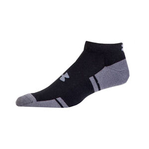 Under Armour UA Resistor III Lo Cut Youth Sock Polyester/Spandex Youth Large 6 Pack Black