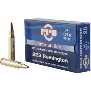 Prvi Partizan PPU .223 Rem Ammunition 55 Grain SP 3240 fps