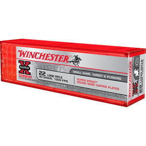 Winchester Super-X Super Speed .22LR Ammunition 40 Grain Copper Plated LRN 1300 fps