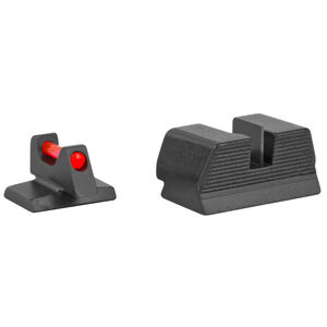 Trijicon Fiber Optic Sight Set Fits FNH USA FNX-45/FNP-45 Red Fiber Front/Blacked Out Rear Steel Housing Matte Black Finish