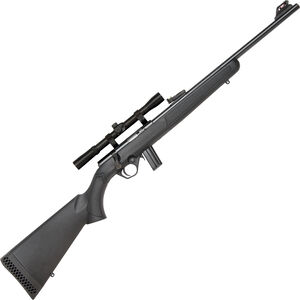 "Mossberg 802 Plinkster Combo Bolt Action Rimfire Rifle .22 LR 18"" Barrel 10 Rounds FO Sights with 4x Scope Synthetic Stock Black"