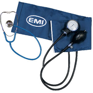 EMI Procuff Sphygmomanometer Set with Black Dual Head Stethoscope 932