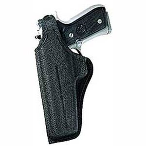 "Bianchi #7001 AccuMold Thumbsnap Belt Holster Revolvers 4"" Barrels Size 4 Left Hand Ballistic Fabric Black"