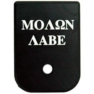 CruxOrd GLOCK Magazine Base Plate Molon Labe Aluminum Black