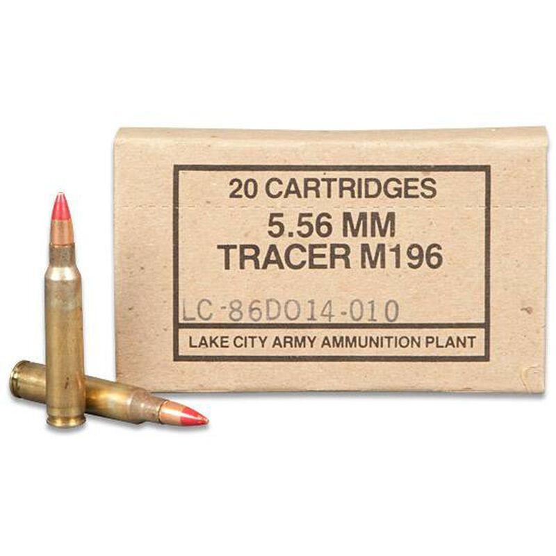Ammo 5.56 NATO Lake City M196 Red Tip Tracer 55 Grain 820
