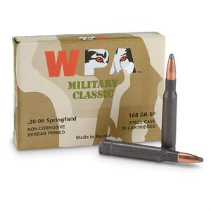 Wolf Performance Military Classic .30-06 Springfield Ammunition 20 Rounds JSP 168 Grain