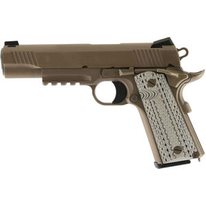 "Colt M45A1 1911 Semi Auto Handgun .45 ACP 5"" Barrel 7 Rounds Government Profile with Accessory Rail G10 Grips Decobond Brown Finish"