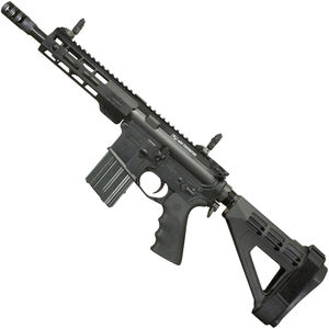 "Windham Weaponry .450 Bushmaster AR-15 Semi Auto Pistol 9"" Barrel 5 Rounds Flip Up Sights Free Float Handguard SB Tactical Pistol Brace Black Finish"