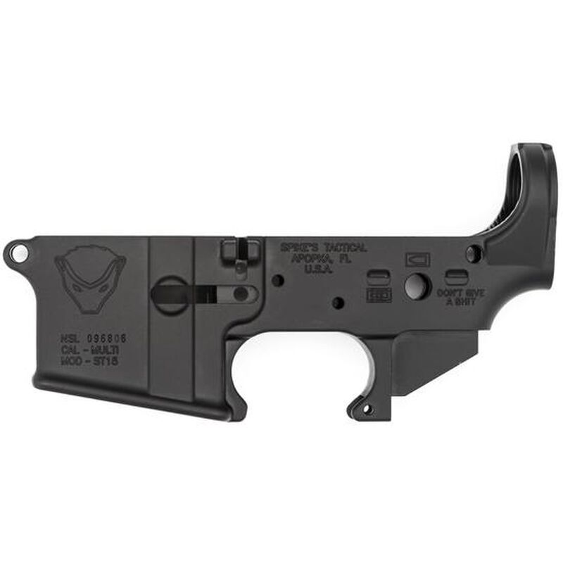 Spikes Tactical AR-15 Forged Stripped Lower Receiver Multi Caliber Forged  Honey Badger Non-Color Filled Aluminum Black STLS020