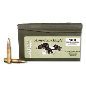 Federal American Eagle 5.56 NATO Ammunition 600 Rounds XM855 FMJ 62 Grains