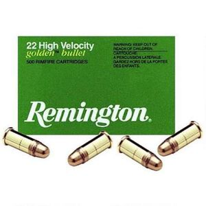 Remington High Velocity .22 Short Ammunition 100 Rounds Plated LRN 29 Grains 21001