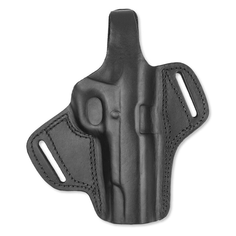 """Bulldog Cases Deluxe Molded Leather Holster Medium with Thumb Break Right Hand 1911 Style Autos 4-5"""" Barrels Black LMH-M"""