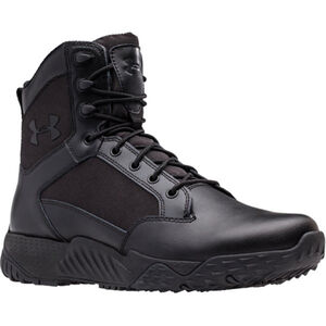 Under Armour Stellar Men's Tactical Boot Size 12 Leather/Nylon Black 1268951