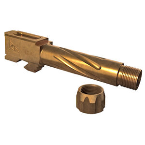 Rival Arms Barrel for GLOCK 26 Models 9mm Luger Fluted/Threaded 1/2x28 416R Stainless Steel PVD Coating Bronze Finish