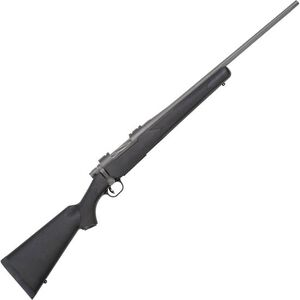 """Mossberg Patriot Synthetic Bolt Action Rifle .243 Win 22"""" Fluted Barrel 4 Rounds Black Synthetic Stock Cerakote Stainless Finish"""
